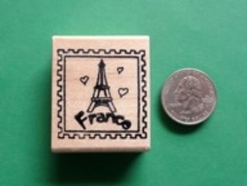 FRANCE Country/Passport Rubber Stamp