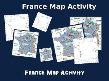 FRANCE Map Activity- fun, engaging, follow-along 24-slide PPT