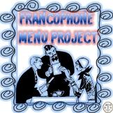 FRANCOPHONE MENU PROJECT