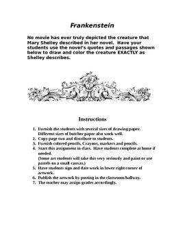 FRANKENSTEIN: Creature Drawn by Students