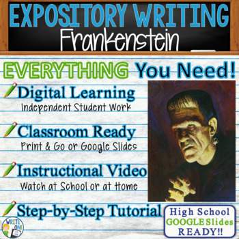 Frankenstein by Mary Shelley - Text Dependent Analysis Expository Writing