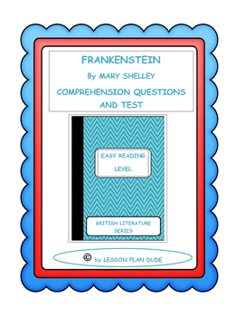 Frankenstein questions and test adapted version by lesson plan dude frankenstein questions and test adapted version fandeluxe Choice Image