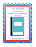 FRANKENSTEIN- QUESTIONS AND TEST-ADAPTED VERSION