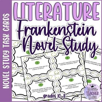 FRANKENSTEIN Discussion Task Cards