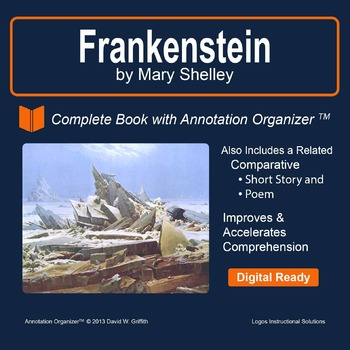 Grades 9 12 close reading graphic organizers resources lesson frankenstein by mary shelley digital book bundle and annotation organizer fandeluxe Image collections