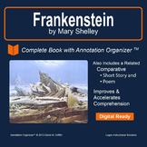 Frankenstein by Mary Shelley: Digital Book Bundle and Annotation Organizer