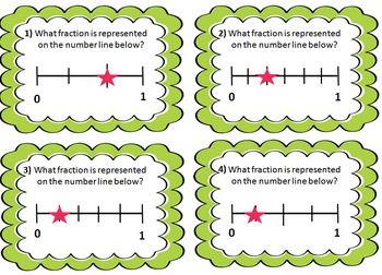 FRATION NUMBER LINE SCOOT- FREEBIE 12 Scoot Cards