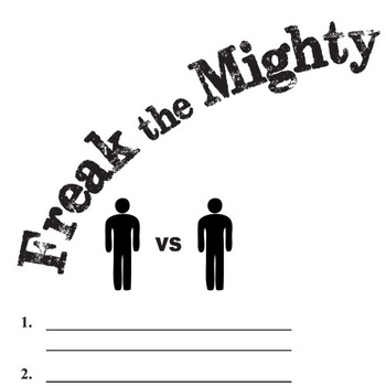 FREAK THE MIGHTY Conflict Graphic Organizer - 6 Types of Conflict