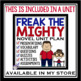 FREAK THE MIGHTY FREE BOOKMARKS & POSTER