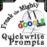 FREAK THE MIGHTY Journal Quickwrite Writing Prompts (Digital Distance Learning)