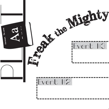 FREAK THE MIGHTY Plot Chart Organizer Diagram Arc - Freytag's Pyramid