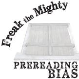 FREAK THE MIGHTY Prereading Bias