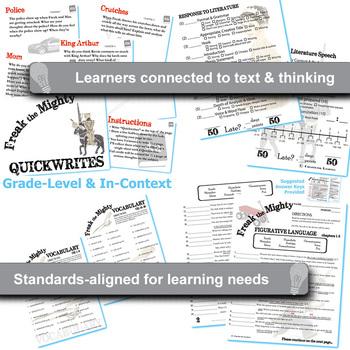 FREAK THE MIGHTY Unit Novel Study (by Rodman Philbrick) - Literature Guide