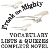 FREAK THE MIGHTY Vocabulary Complete Novel (60 words)