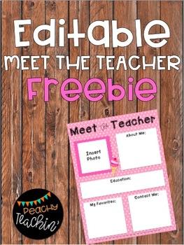 FREEBIE - Editable Meet the Teacher Letter - Cherry on Top