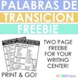 FREEBIE! Palabras de transición! Spanish Transition Words for Opinion Writing!