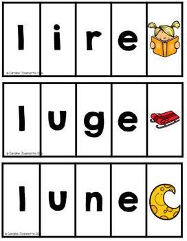 FRENCH Phonemic Reading 100+ Strips / Lecture phonémique + de 100 cartes