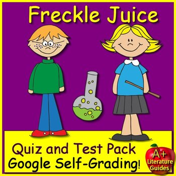 Freckle Juice Novel #summer2018 Study Unit Print AND Paperless Google Ready