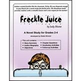 FRECKLE JUICE NOVEL STUDY Gr. 2-4