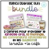 FRENCH Dramatic Play Bundle - Restaurant & Café - Centres Oraux Le Café/Le Resto