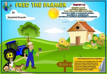 FARMING - AGRICULTURE - FRED THE FARMER BOOK 3 of 3 - Farmers' routine, etc.