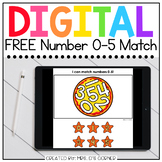 FREE 0-5 Number Matching Digital Basics for Special Ed | D