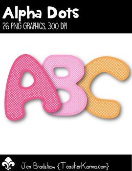Letter Clip Art ~ Alpha Dots ~ Graphics ~ Alphabet