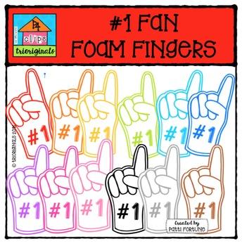 FREE #1 Fan Foam Fingers {P4 Clips Trioriginals Digital Clip Art}