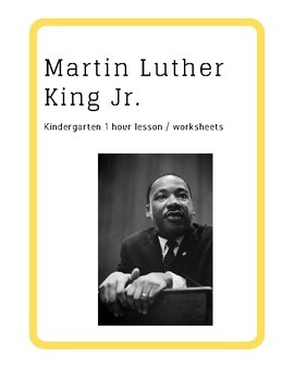 FREE 1 hour MLK Lesson for Kindergarteners/ 1st Grader