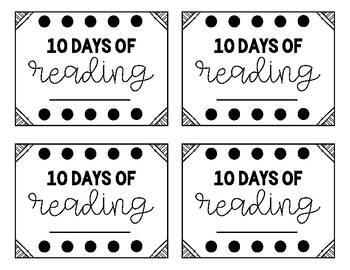 FREE 10 Days of Reading Countdown