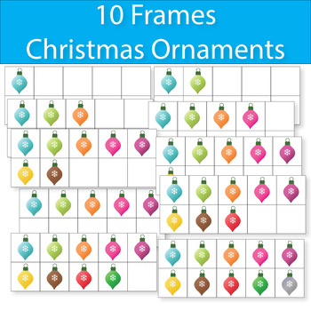 FREE 10 Frames Christmas Ornaments