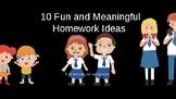FREE: 10 Meaningful and Fun Homework Ideas