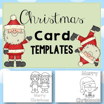 Free Christmas Card Templates By Clever Classroom  Tpt
