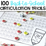 100 Articulation Trials FREE for Back To School
