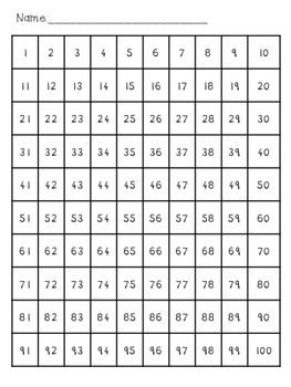 FREE 100 Chart
