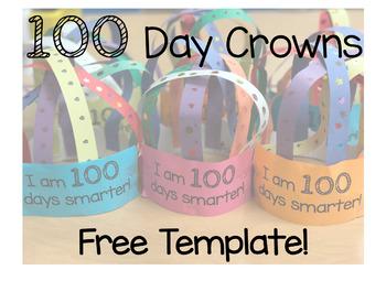 FREE 100 Day Crown Printable!