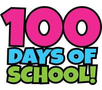 free 100 days of school clipart happy 100th day of school clip art rh teacherspayteachers com clipart of school subjects clipart of school bell