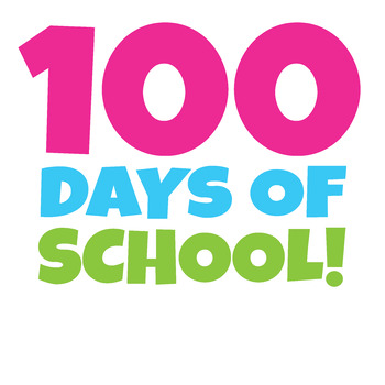 FREE 100 Days of School Clipart / Happy 100th Day of School Clip Art!
