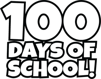 free 100 days of school clipart happy 100th day of school clip art rh teacherspayteachers com last day of school clipart black and white last day of summer school clipart