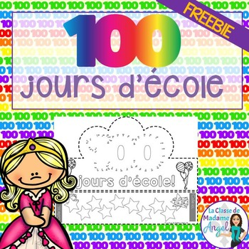 FREE 100th Day of School Crown in French (Le centième jour