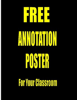 FREE 11x17 ANNOTATION POSTER for SCIENCE READING SKILLS