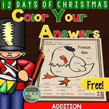 Color By Number Christmas Addition Twelve Days of Christmas Printable Freebie