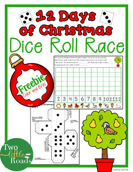 FREE 12 Days of Christmas Dice Roll Race