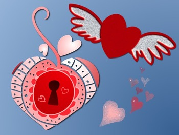 FREE 12 Whimsical Hearts Clip Art for Valentines