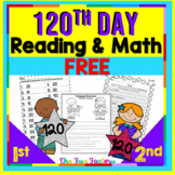 FREE 120th Day of School | Read and Color to Follow Direct