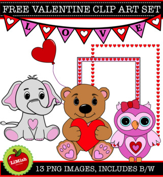 FREE!!! 13 Piece Valentine Clip Art Set for commercial or personal use.
