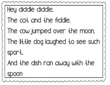 FREE 14 Simple Printable Nursery Rhymes