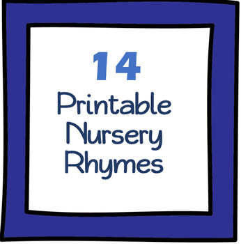 photo about Printable Nursery Rhymes named 14 Uncomplicated Printable Nursery Rhymes