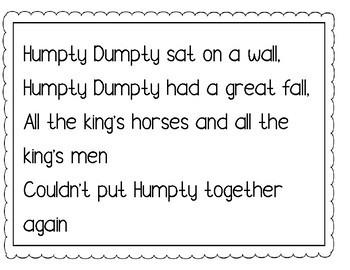 14 Simple Printable Nursery Rhymes