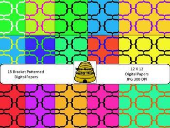 FREE 15 Bracket Patterned Digital Papers